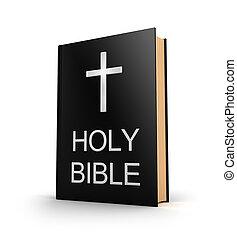 bible., boek, kruis, heilig