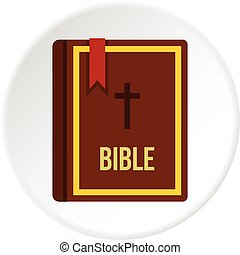 Bible book icon circle