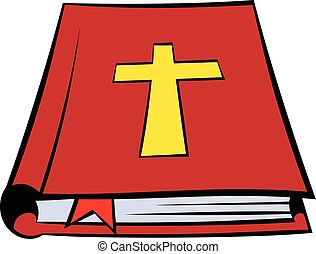 Bible book icon, icon cartoon