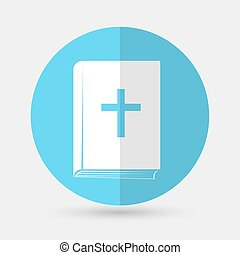 Bible book icon on a white background
