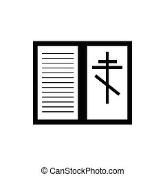 Bible book icon, simple style