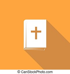 Bible book icon with long shadow