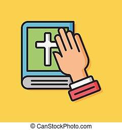 bible book vector icon