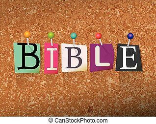 Bible Concept Pinned Letters Illustration