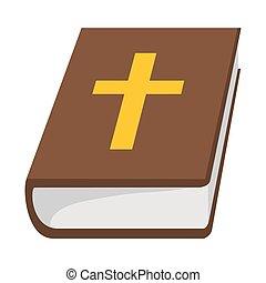 bible, dessin animé, saint