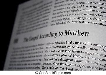 bible, evangelium, matthew