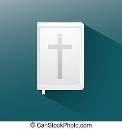bible flat icon with long shadow,
