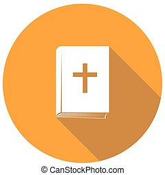 bible flat icon with long shadow