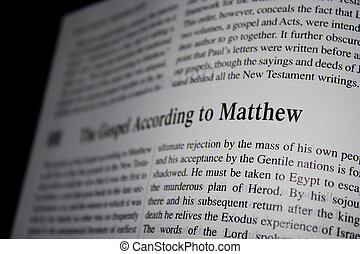 Bible Gospel Matthew
