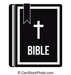 Bible icon in simple style