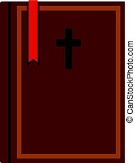 Bible icon isolated
