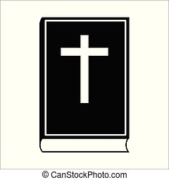 Bible Icon isolated on white background