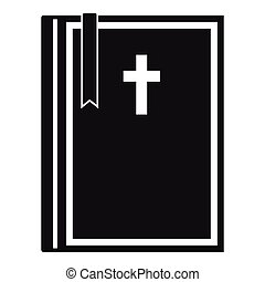 Bible icon , simple style