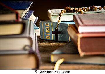 Bible In The Bookshelf