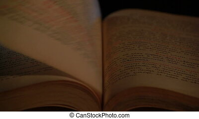 Bible in the Old Slavonic language, shallow depth of field