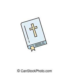 Bible line icon - Vector holy bible icon in trendy linear ...