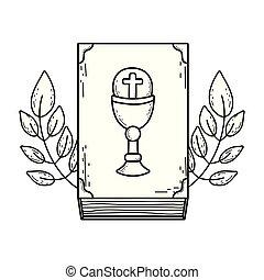 bible, livre, saint, icône