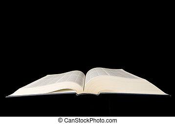 bible., livre, vieux, ou