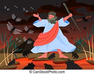 Bible narratives about Plagues of Egypt. Christian bible ...