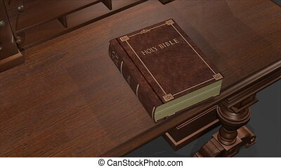 Bible Noah - 3d Animation of a Bible opening up the Genesis...