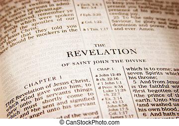 Revelation - Bible open to Revelation