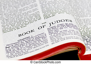 Bible Page - Judges - Close up of Judges bible page