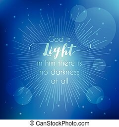 Bible Quotes God Is Light In Lamp Shining In Darkness Background