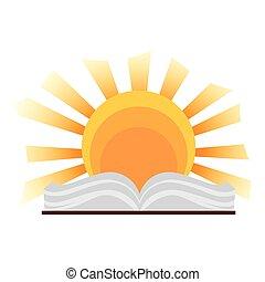 bible, sacré, saint, icône