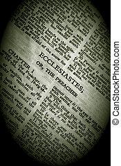 Bible Series Ecclesiastes in vignette - Bible Series. close...