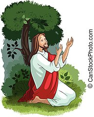 Bible stories of Jesus. The agony in the garden