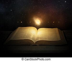 bible, système, solaire
