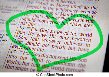 Bible text -  God so loved the world - John 3:16