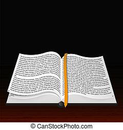 bible., vektor, nyílik, legjobb, válogatott