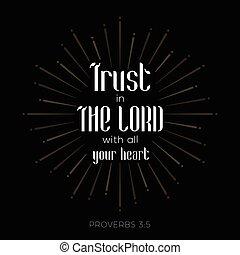 bible, vers, pour, chrétien, ou, catholique, sur, confiance,...