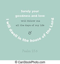 bible verse from psalm, i will dwell in the house of the ...