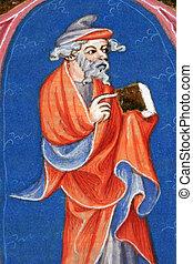 bible, vieux, saint, haut, livre, fin