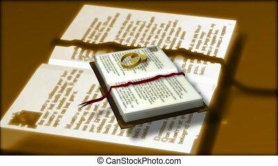 biblia, és, esküvő gyűrű