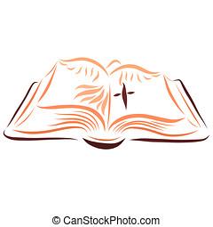 Biblia Paloma Abierto Cruz