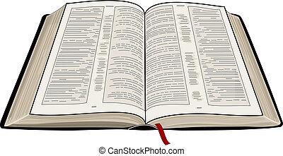 biblia, abierto