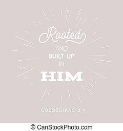 biblia, construido, arriba, cita, raíz, él