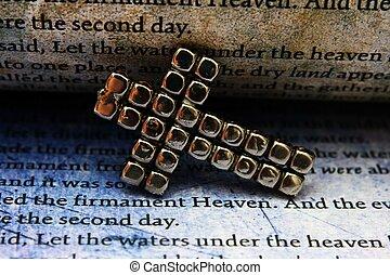 biblia, cruz