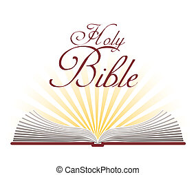 biblia, diseño, santo