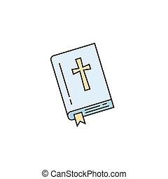 biblia, egyenes, ikon