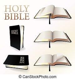 biblia, ilustración, santo