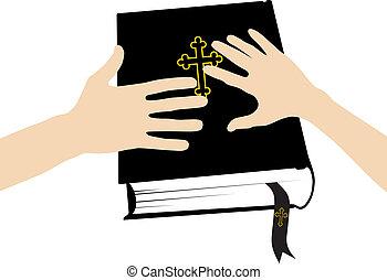 biblia, juramento, santo,  marital