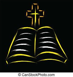 biblia, kereszt