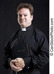 biblia, lelkész, ünnepélyes