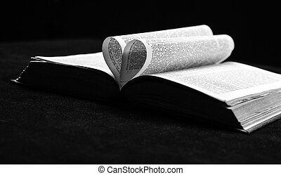 biblia, love., libro