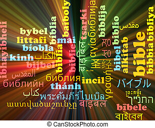biblia, multilanguage, wordcloud, tło, pojęcie, jarzący się