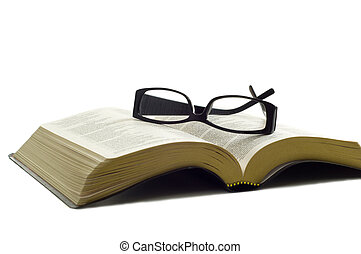 biblia, okulary